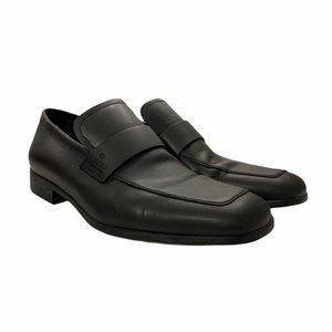Men's Gucci Leather Loafers Black Dressy Shoes 7 1